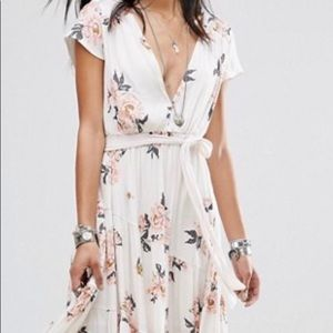 Free people all I got Maxi Dress floral 8